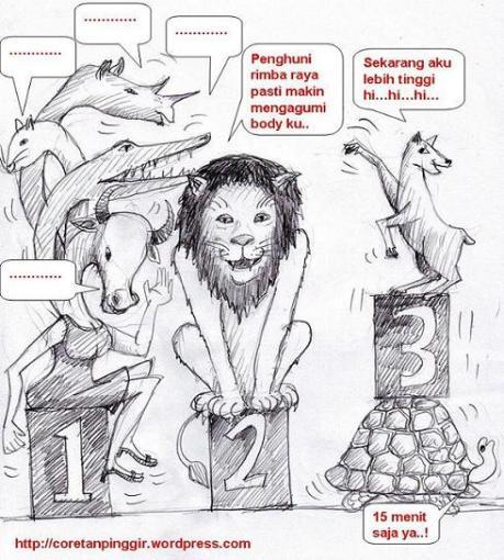 Kancil, Singa dan Medusa