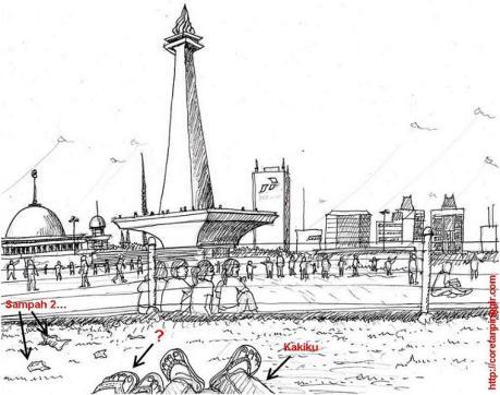 Monumen Nasional suatu sore