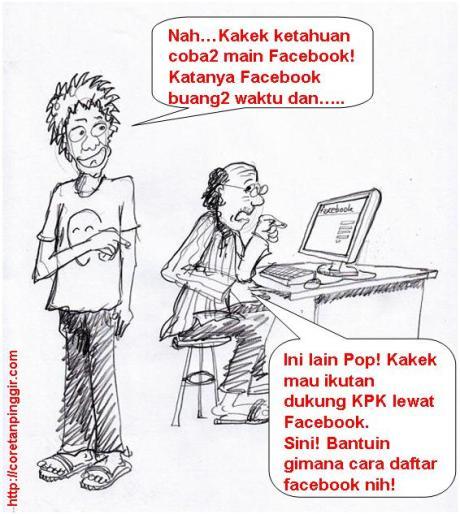 Dukung KPK lewat facebook