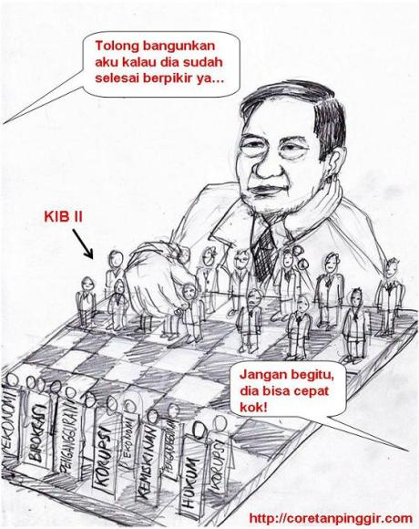 Karikatur main catur